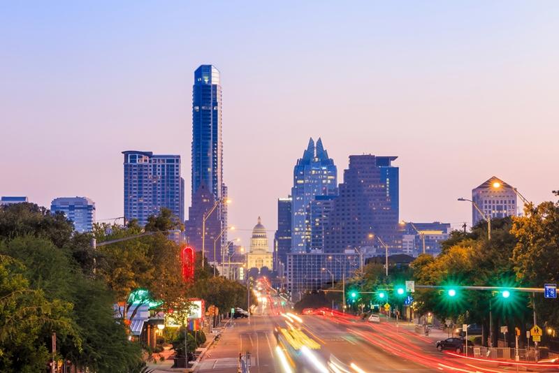 Austin is a burgeoning hub for tech job growth.