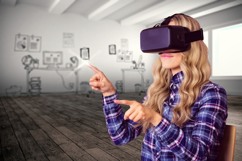 VR transports users to another world.